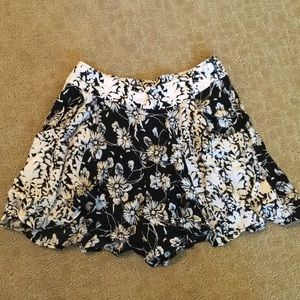 Free People Flowy Floral Shorts